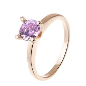 💎New💎 Rose Gold Gemstone Fashion Ring Sz 6
